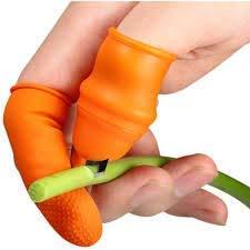 JATU STORE Finger Knife Thumb -Silicon Thumb Knife -Thumb Knife Finger Cutter -Kitchen Set Knife Set for Kitchen use-Home appliances Kitchen -Garlic Peeler for Kitchen Finger- -Thumb Cutter