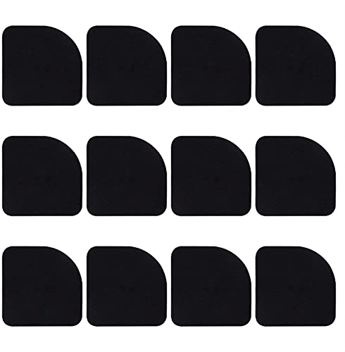 OLWICK® 12 PCS Antivibration Pads Shock Absorbing Washer Pads Silent Feet Pads Non-Slip Mat Furniture Pads for Washing Machine Refrigerator Home Appliance. (12)