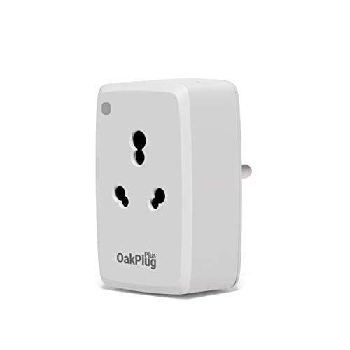 Oakter Wi-Fi Smart Plug for High Power Appliances (AC, Geyser, Motor, etc.) and for Low Power Appliances (Mobile & Laptop Chargers, TV, Kettle, etc.) Works with Alexa & Google Assistant (old16a)