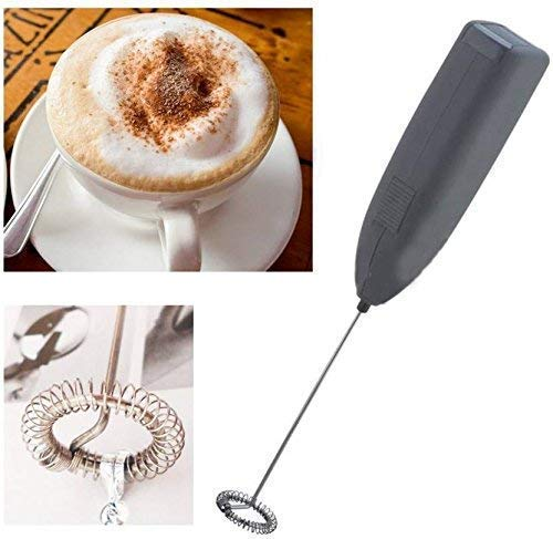 SHOPPOSTREET Electric Handheld Milk Wand Mixer Frother for Latte Coffee Hot Milk, Milk Frother For Coffee, Egg Beater, Hand Blender, Coffee Beater With Stand (Multi)