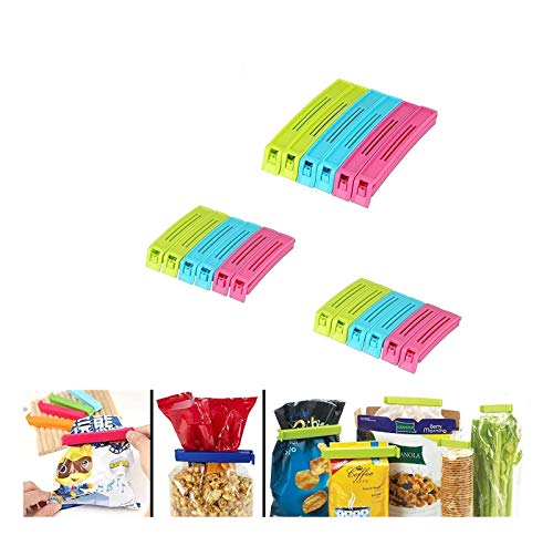 VR 18Pc Plastic Food Snack Bag Pouch Clip Sealer for Keeping Food Fresh for Home, Kitchen, Camping Snack Seal Sealing Bag Clips (Multi-Color) | Food Clips Sealer | Pouch Clip Sealer (Pack of 18)|
