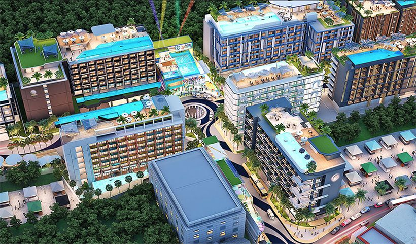 Massive 11 hotel project, surf club and waterpark for Kata, Phuket