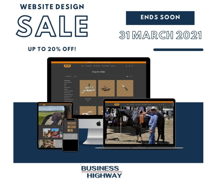 March website design sale by Business Highway Dubbo