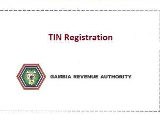 TIN number registration in Gambia