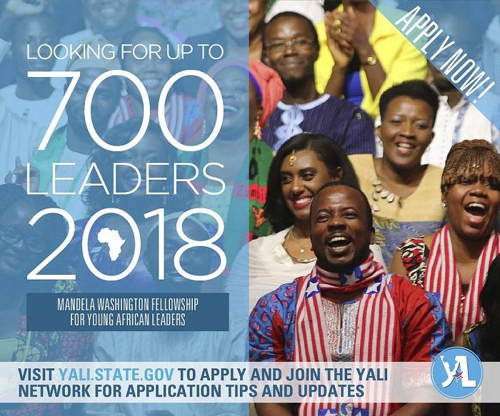 2018 Mandela Washington Fellowship application is Open