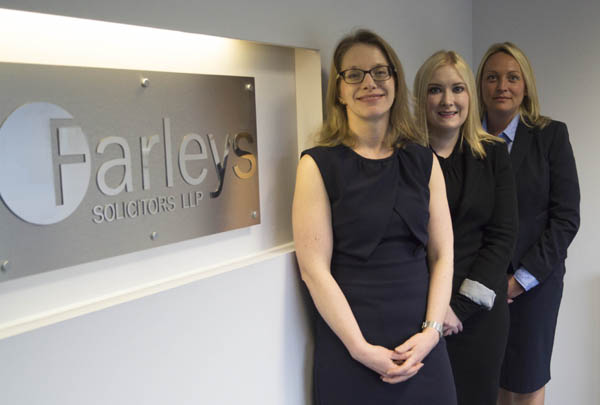 Trio of Promotions at Farleys Solicitors