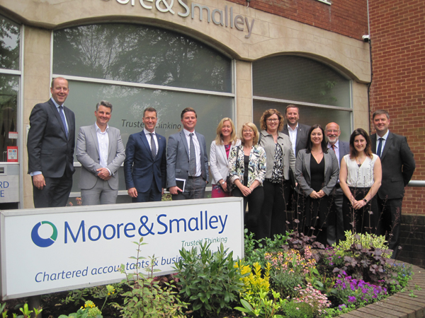 Tourism industry leaders at the Moore and Smalley roundtable