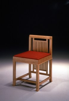 Barrel Taliesin chair, designed by Franck Lloyd Wright, Cassina Collection