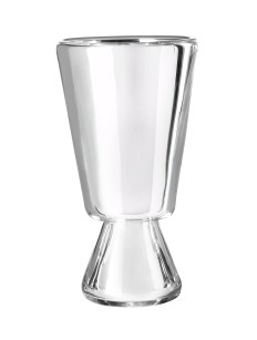 Mirror white wine glass, clear silvered for Verreum