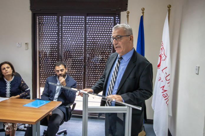 (Minister Evarist Bartolo at the awarding ceremony. source: UM media)