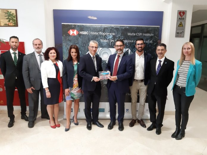 HSBC Malta wins international award for Malta CSR Institute's sustainability awareness raising initiatives. (source: HSBC Media)