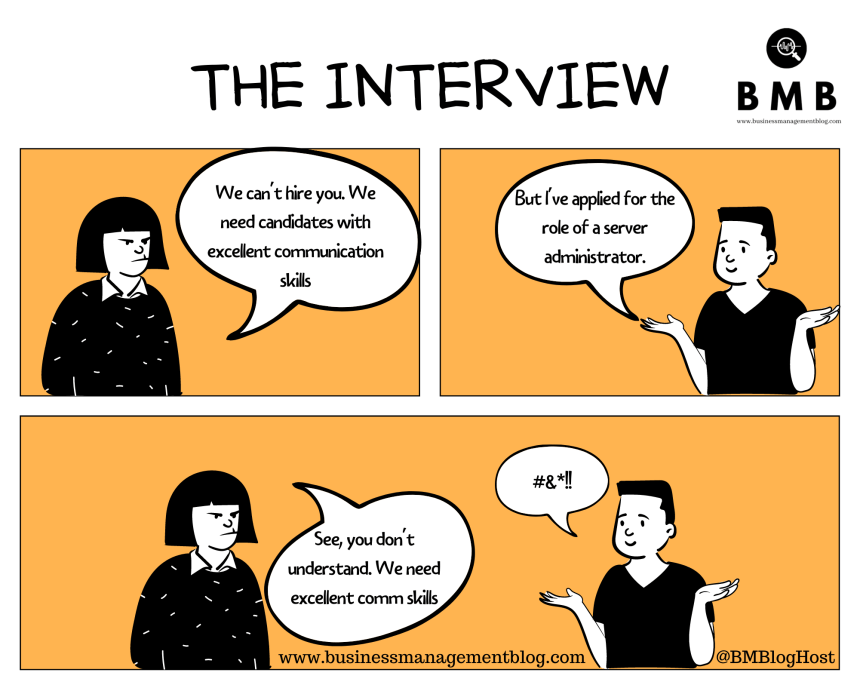 Business Cartoon - The Interview