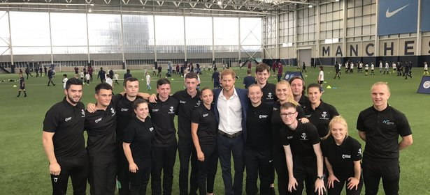 Sharks Apprentice Coaches Meet Prince Harry