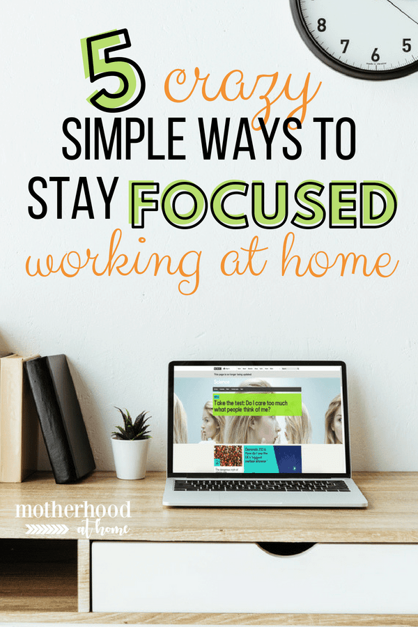 work at home productivity