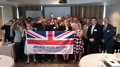 Saluting for Armed Forces Day at Bristol Business Network