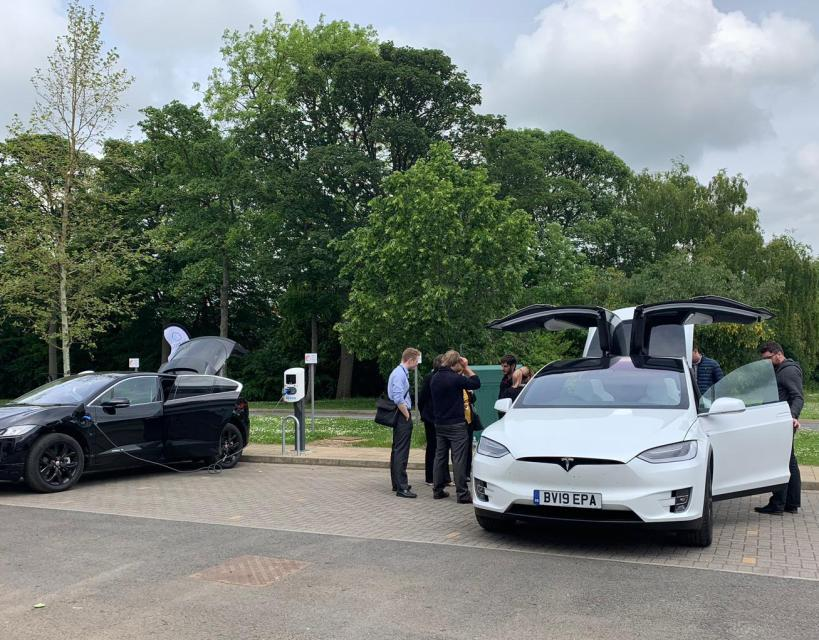 Ultra fast electric vehicle charge points added at NETPark