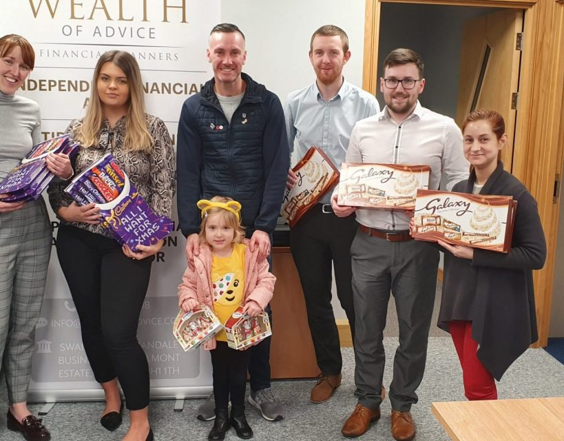 Financial advice company donates hundreds of selection boxes for ill young children
