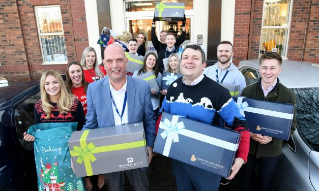 Housebuilder raises over £9,000 to provide a special Christmas for those in need