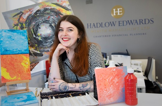 Finance Firm Showcases Work of Young Artist Alice