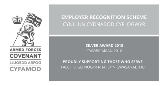 Welsh Employers Awarded Silver for Supporting the Armed Forces