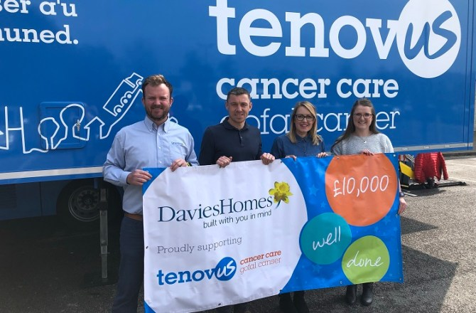 Welsh House Builder Raises £10,000 for Tenovus Cancer Care