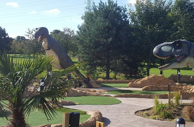 Cardiff Golf Centre Launches Jurassic-Themed Play Park with HSBC Funding