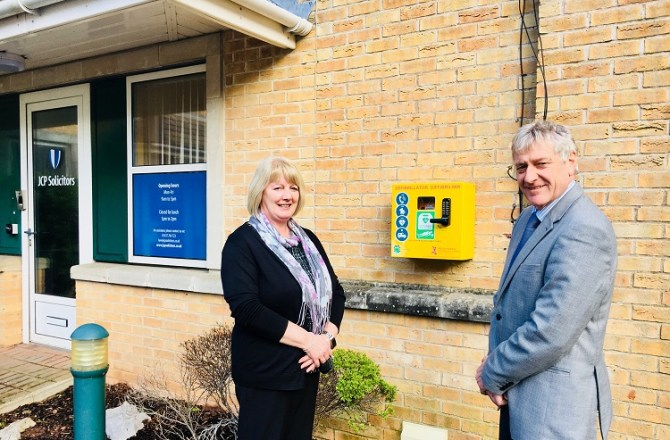 Welsh law Firm Installs its First Defibrillator in Haverfordwest