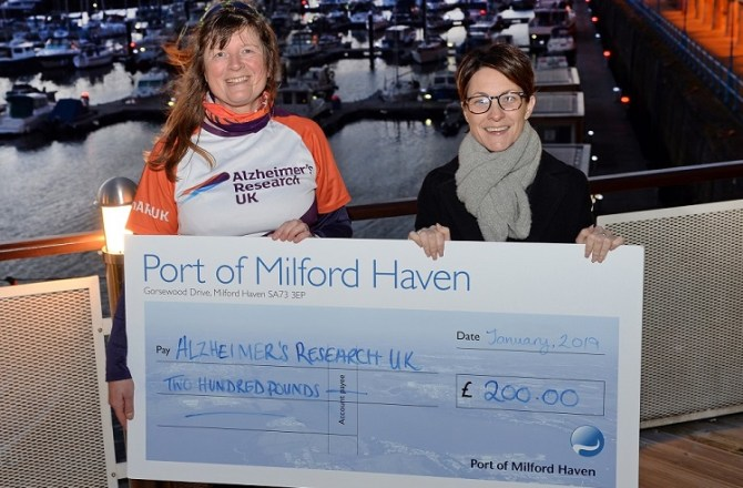 Milford Waterfront Contributes to 4 Year Long UK Walk for Charity