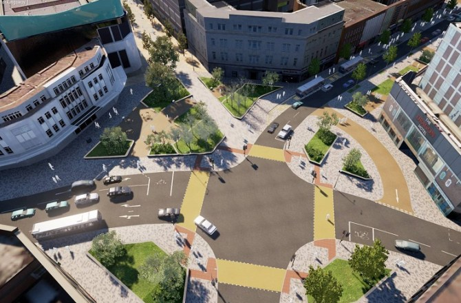 Work on Swansea's £12m Kingsway Transformation Resumes