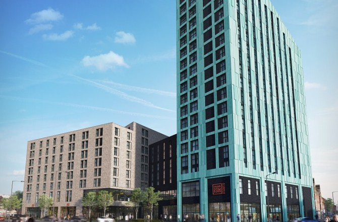 Refreshed Plan for Swansea Student Tower Gets Go-Ahead