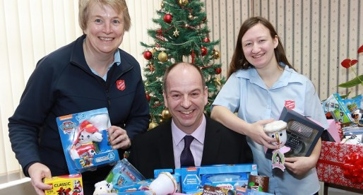Company Donates 50 Toys to Christmas Appeal to Celebrate Half Century in Business