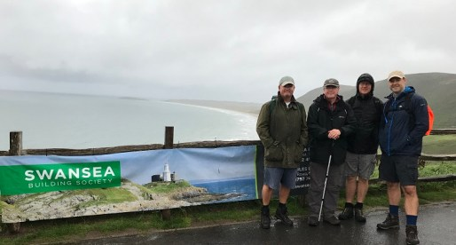 Swansea Building Society Supports Cancer Charity with Gower Macmarathon Walk