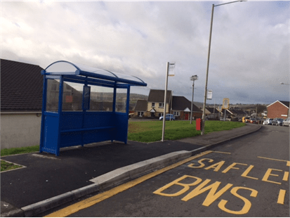 Tonypandy to Groesfaen Bus Stop Improvements Progressing Well