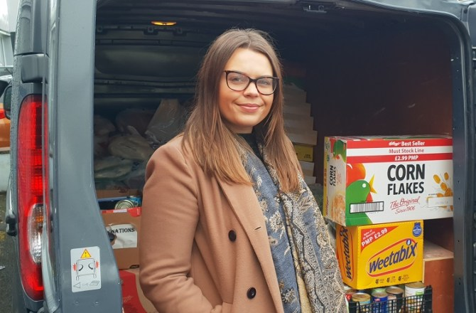 Neath Van Firm Delivers Food to Those in Need