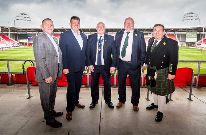 Rugby Legend at St David's Day gathering of the Swansea Bay Business Club
