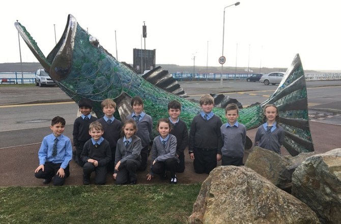 Bertie the Sea Bass Helps the Port Teach on Plastic Pollution