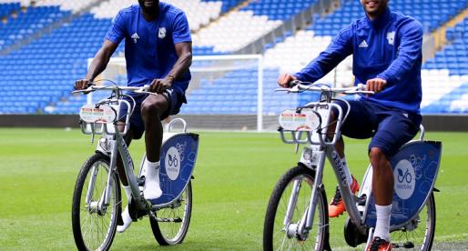 Cardiff City Football Club Fans Encouraged Onto Two Wheels