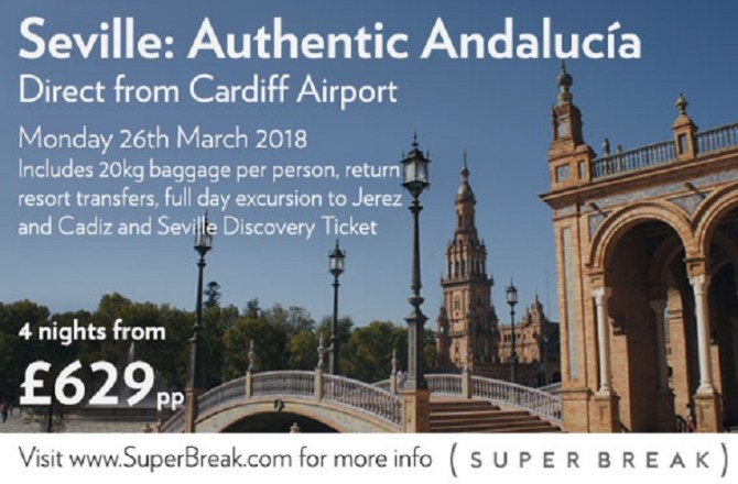 Brand New Flight will Connect Cardiff to Seville