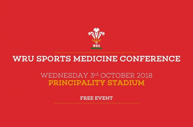 <strong>26th September – Cardiff</strong><br>WRU Sports Medicine Conference 2018