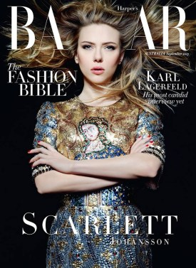 Scarlett Johansson on Harper Bazaar Australia