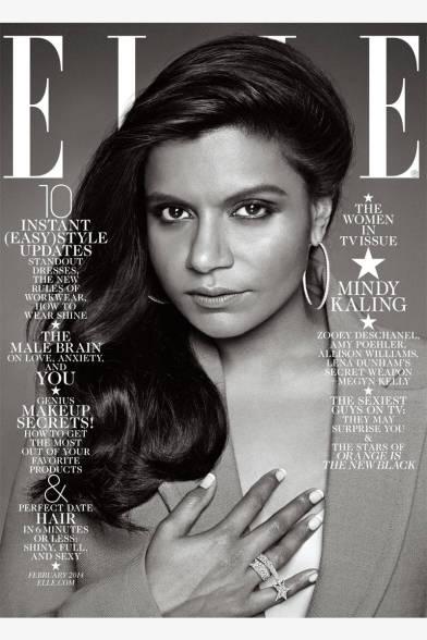 Mindy Kaling for Elle