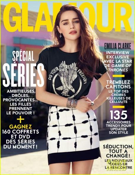 Emilia Clarke on Glamour France