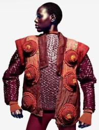 "Ajak Deng in ""Tao Yuan"" photographed by John-Paul Pietrus for Numero China, November 2012."