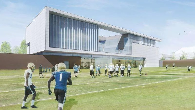 Rendering of UCLA's Football Performance Center (by ZGF Architects LLP)
