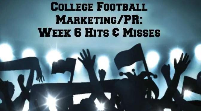 College Football marketing Week 6