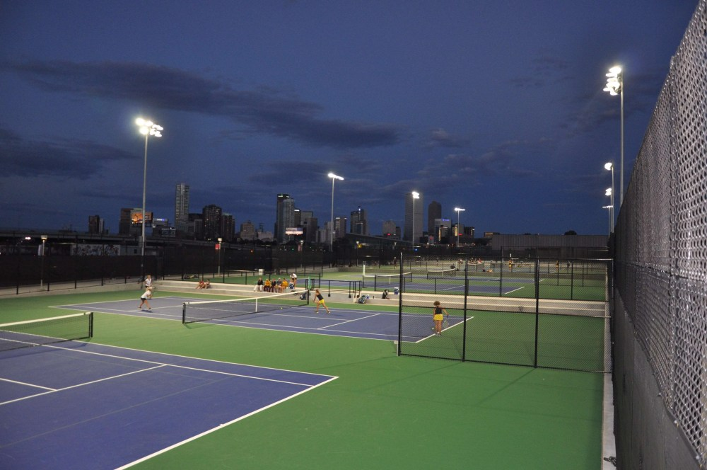 New tennis courts at the Regency Athletic Complex at Metro State (photo credit: Metro State)