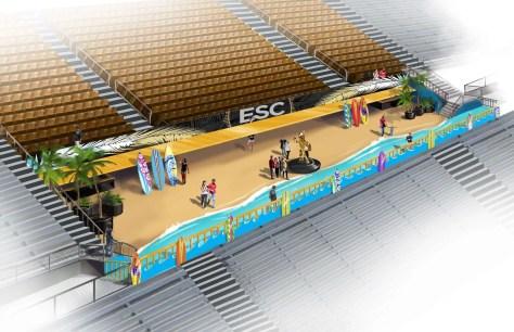 1 ESC in stadium