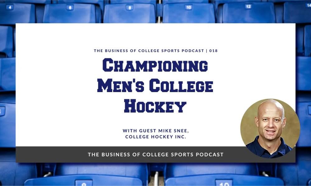 Mike Snee Men's College Hockey