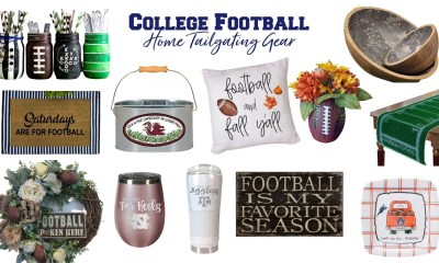Football decor and home tailgating gear