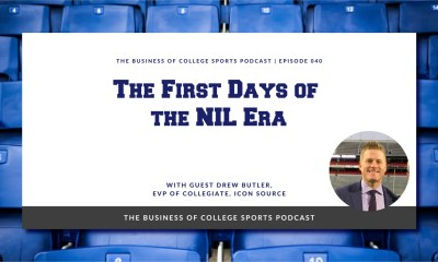 Podcast image for episode on the first days of NIL